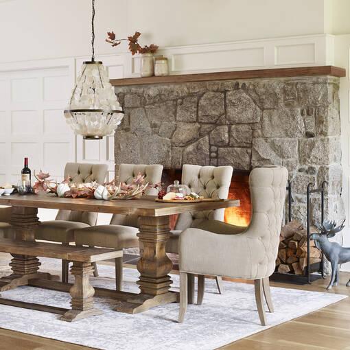 Chaise d'hôte Oak Bay -Nantucket lin