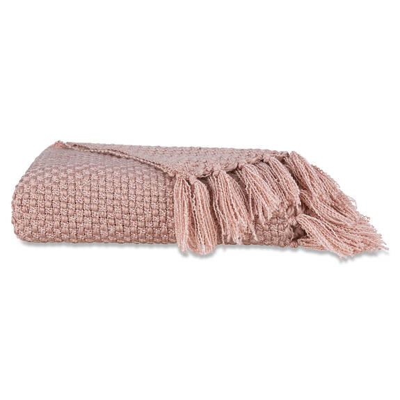Semele Throw Silver/Ballet Pink