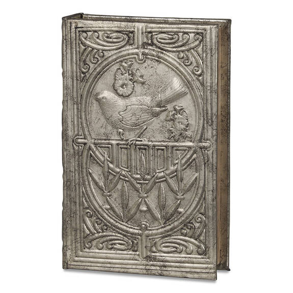 Belle Book Box Medium Pewter
