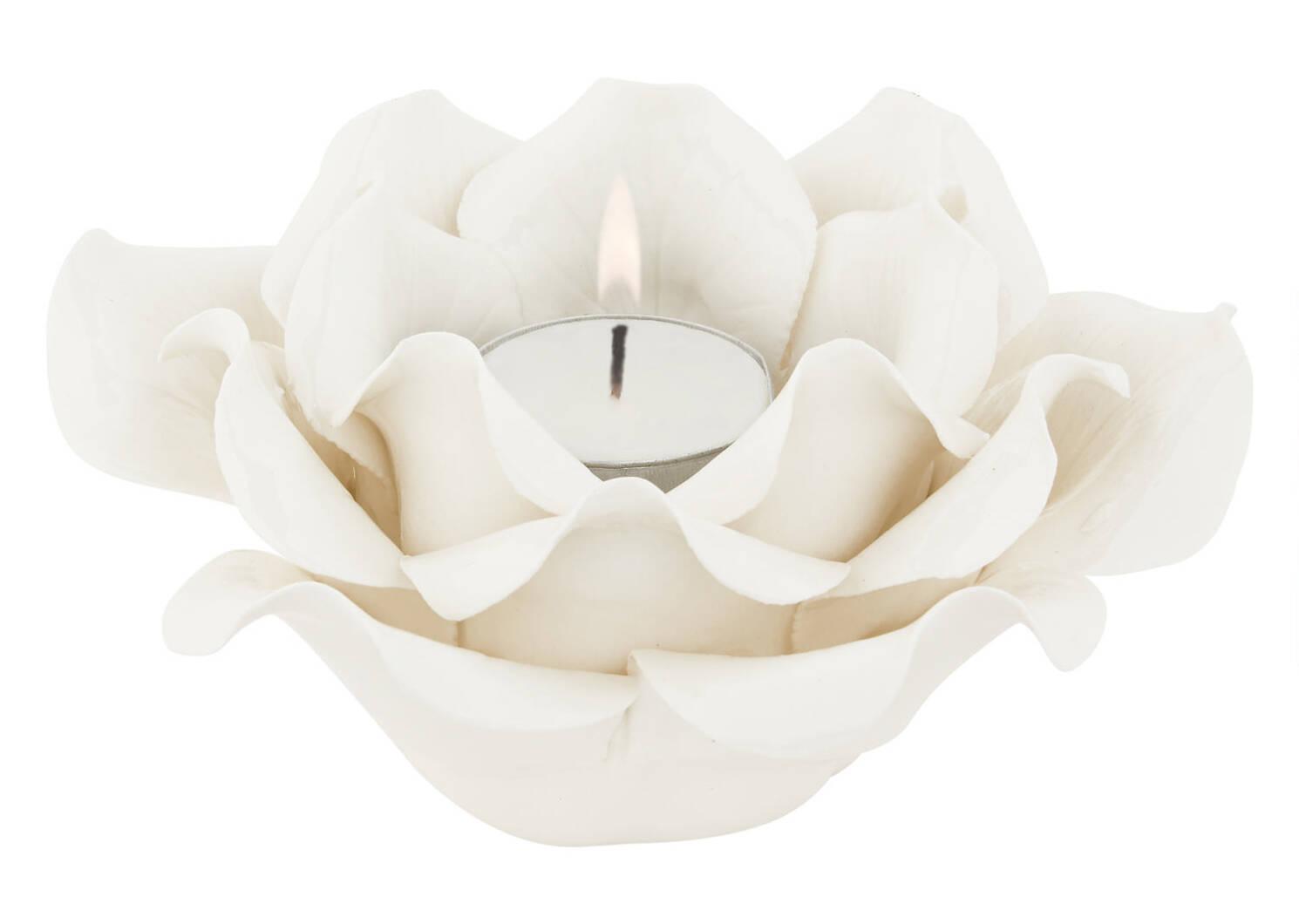 Rosette Tealight Holder White
