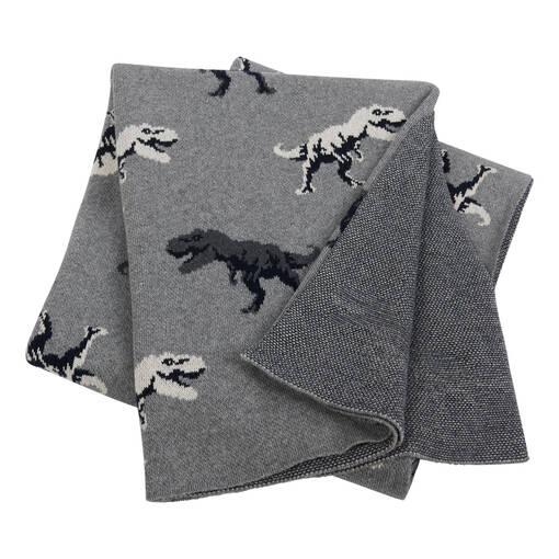 Lex Dinosaur Throw Grey