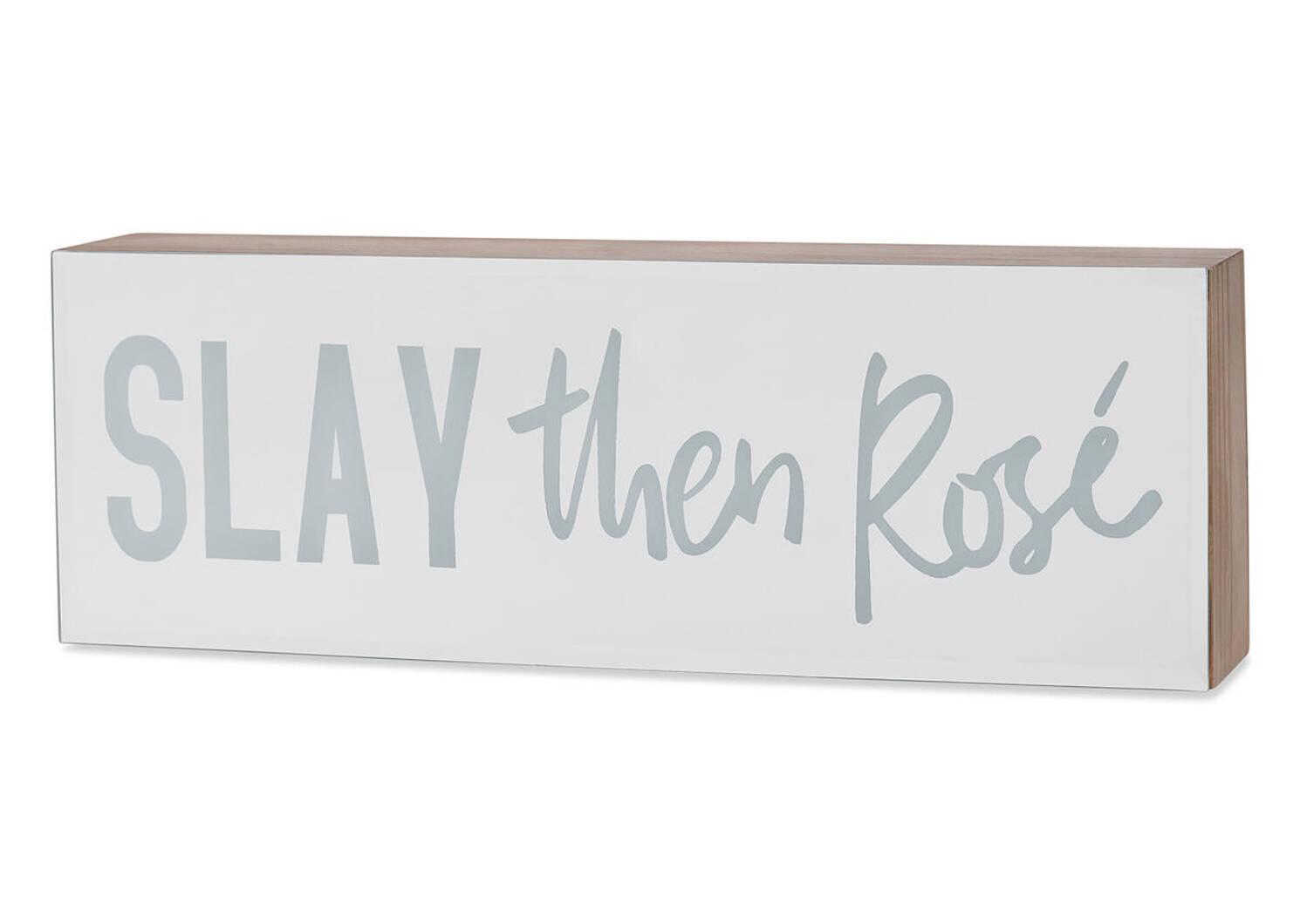 Slay then Rosé Mirror Block