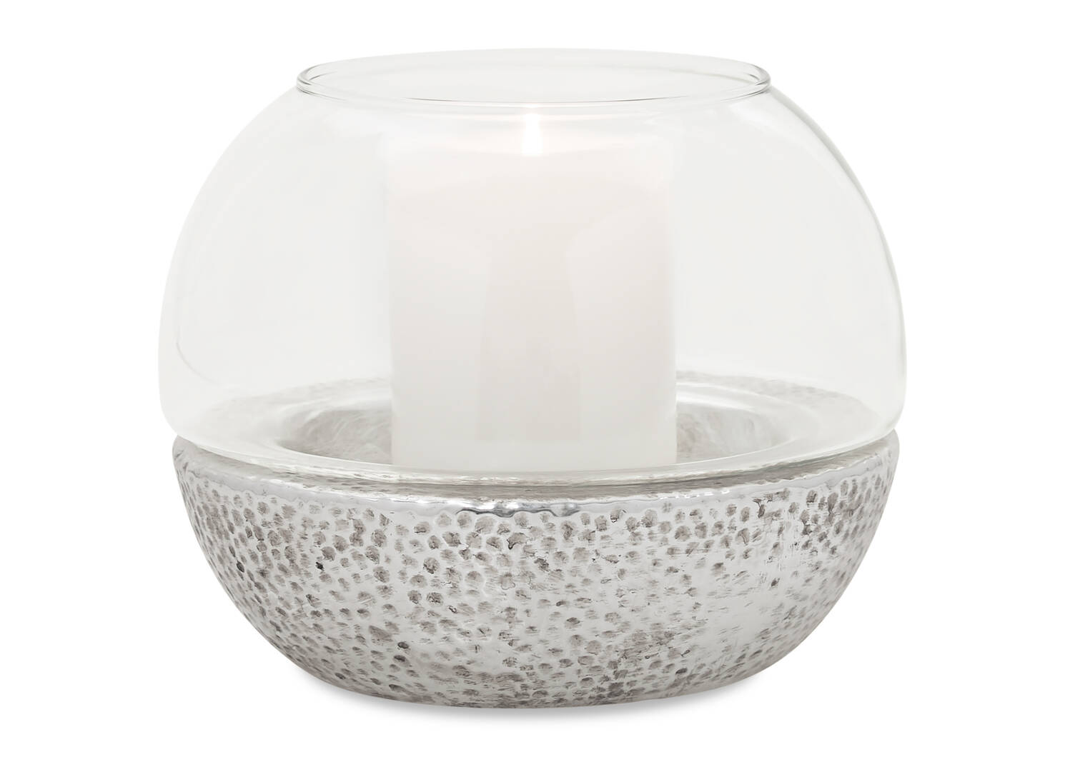 Jaylah Candle Holder Silver