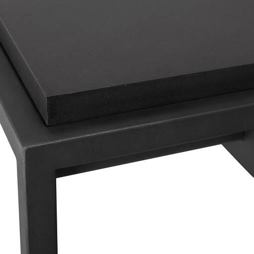 Table d'appoint carrée Crete -Ida noir