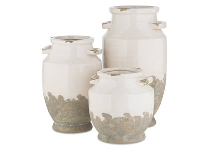 Emmaline Vases -White/Grey