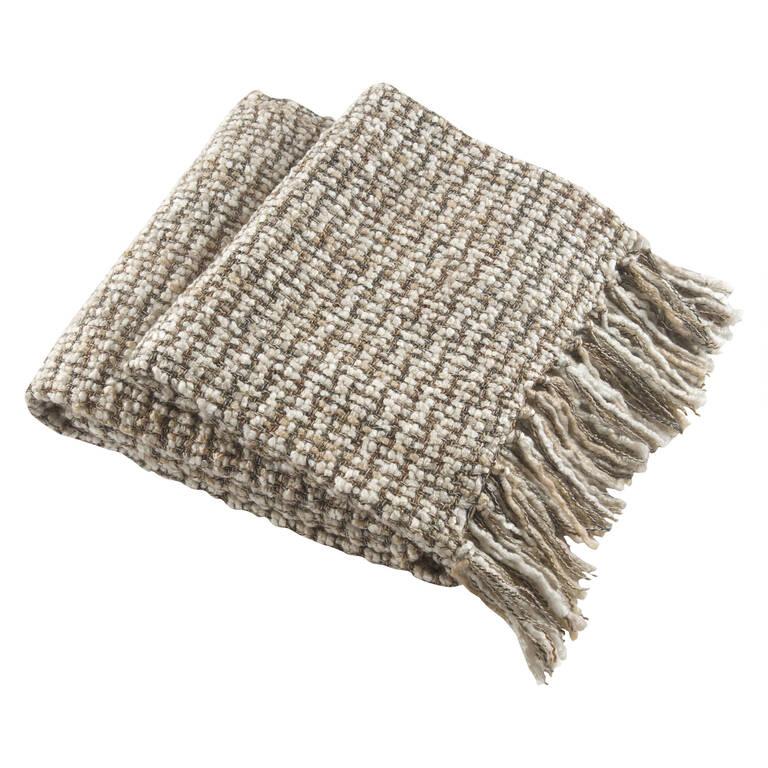 Betina Knit Throw Linen