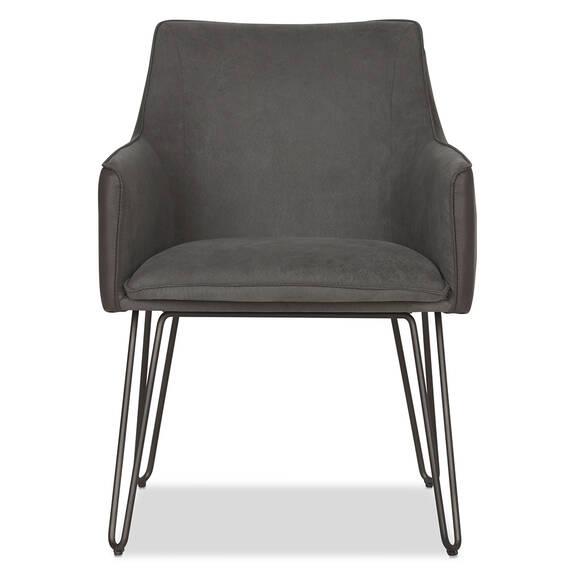 Chaise à accoudoirs Gabbi -Scott gris