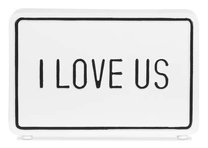 Bloc écriteau I Love Us