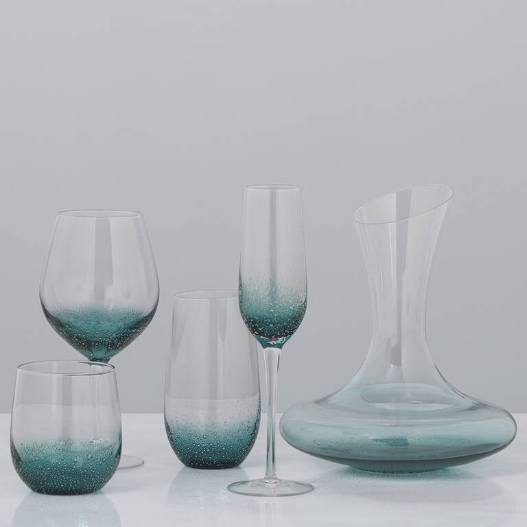Cascadia Glassware - Teal