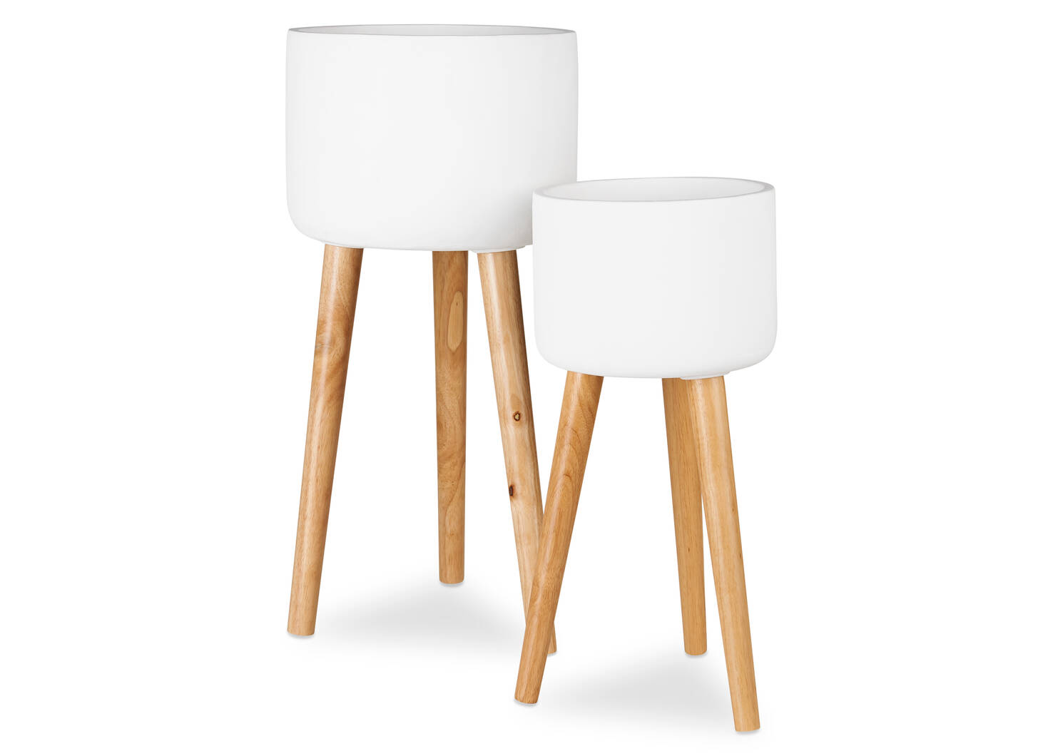 Kyrie Standing Planters -White
