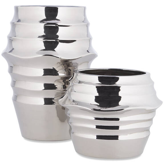 Draven Vases -Silver