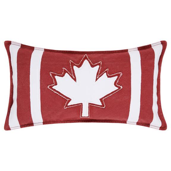Varsity Canada Flag Toss 12x22 Red/White