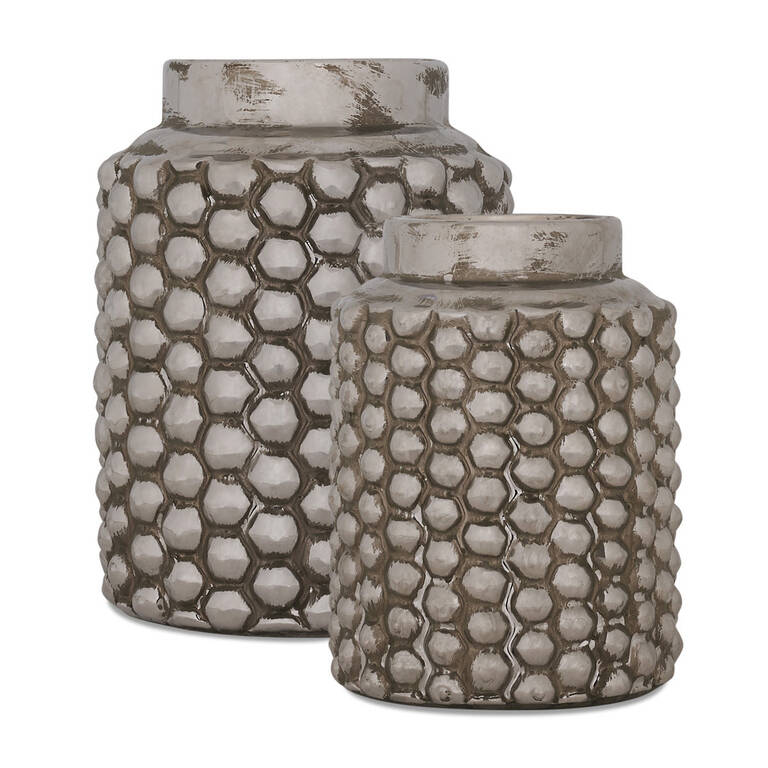 Bessie Vases - Silver