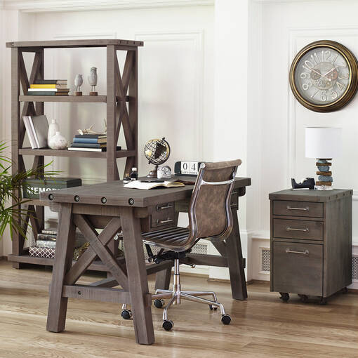 Ironside Desk -Rustic Grey