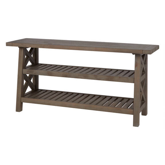 Table console Ironside -gris rustique