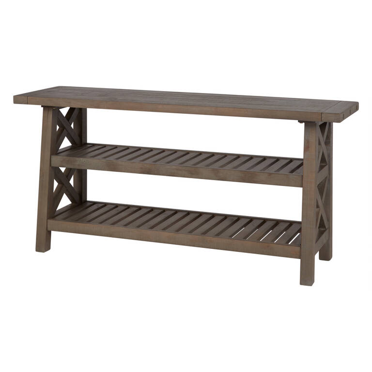 Ironside Console Table Rustic Grey