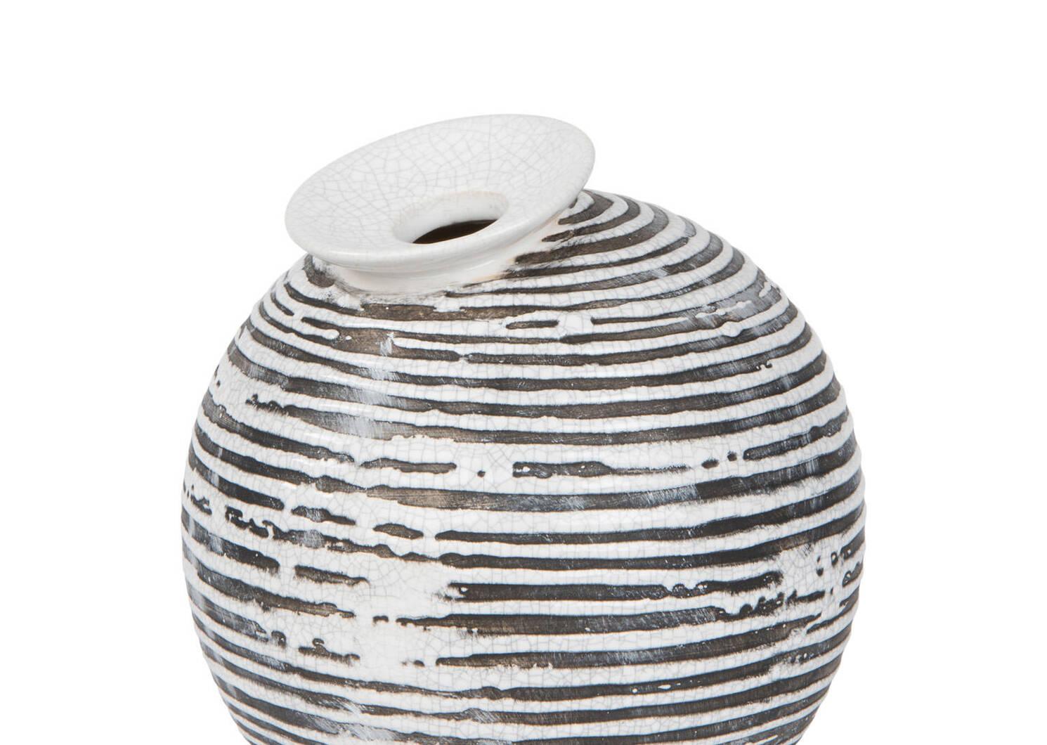 Petit vase Maddy noir/blanc