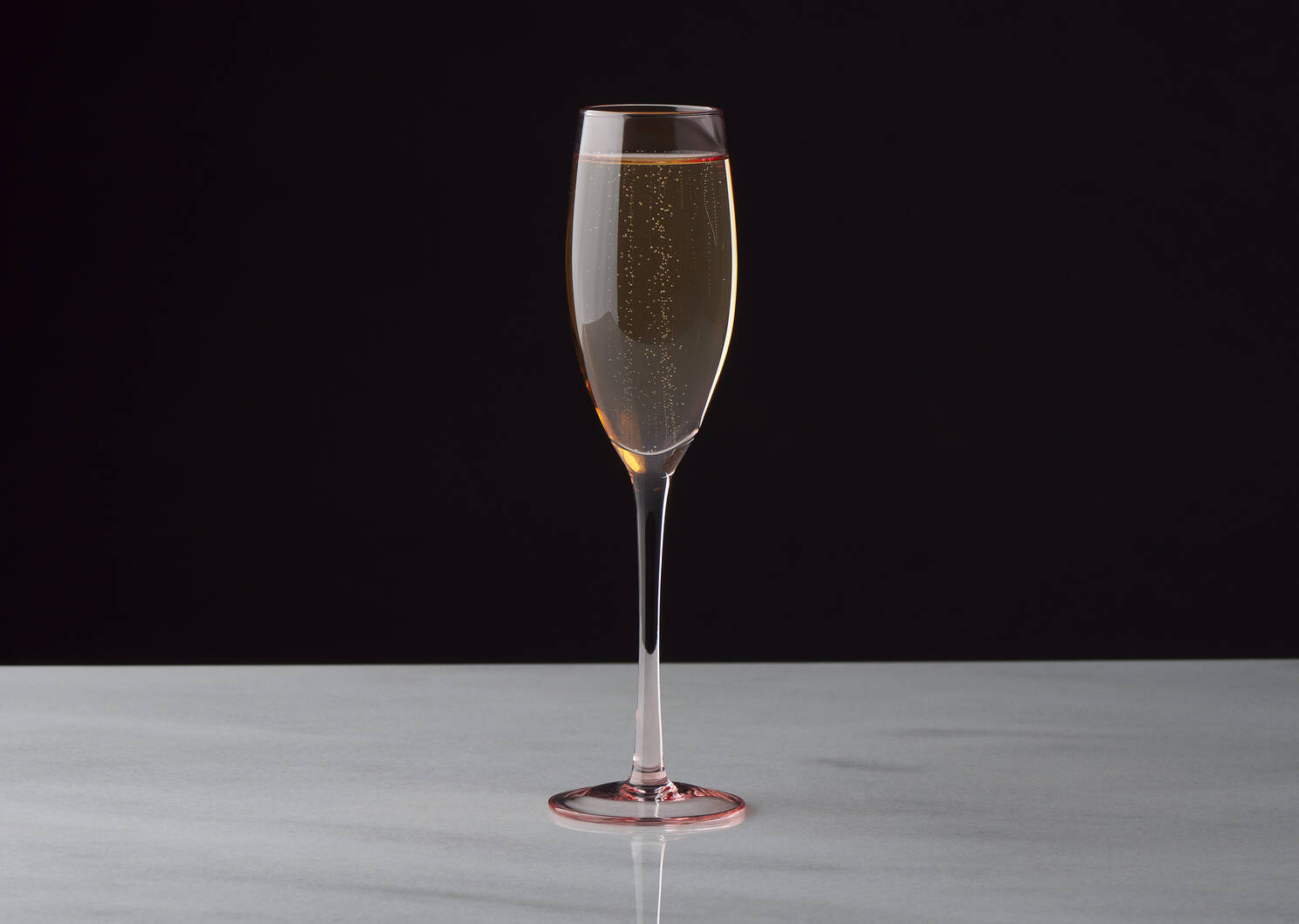 Georgette Champagne Flute Pink