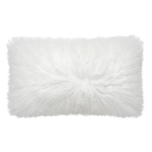 Coussin Mongolian 12x22 blanc
