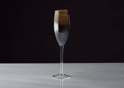 Rhapsody Champagne Flute Sunset/Blue