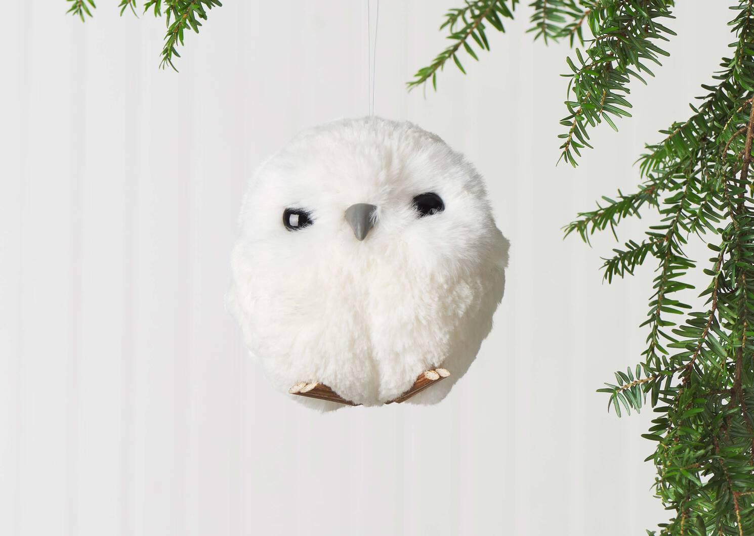 Hadwig Owl Orn White
