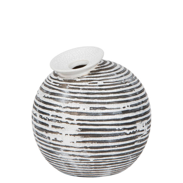 Maddy Vase Small Black/White