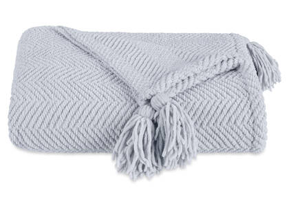 Brisbane Chenille Throw Glacier Grey