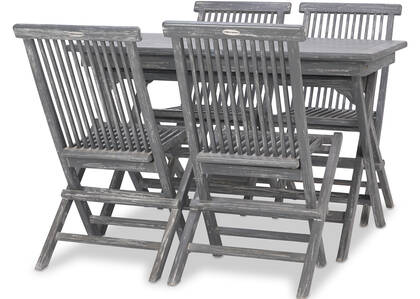 Galiano 5PC Patio Set -Teak Grey