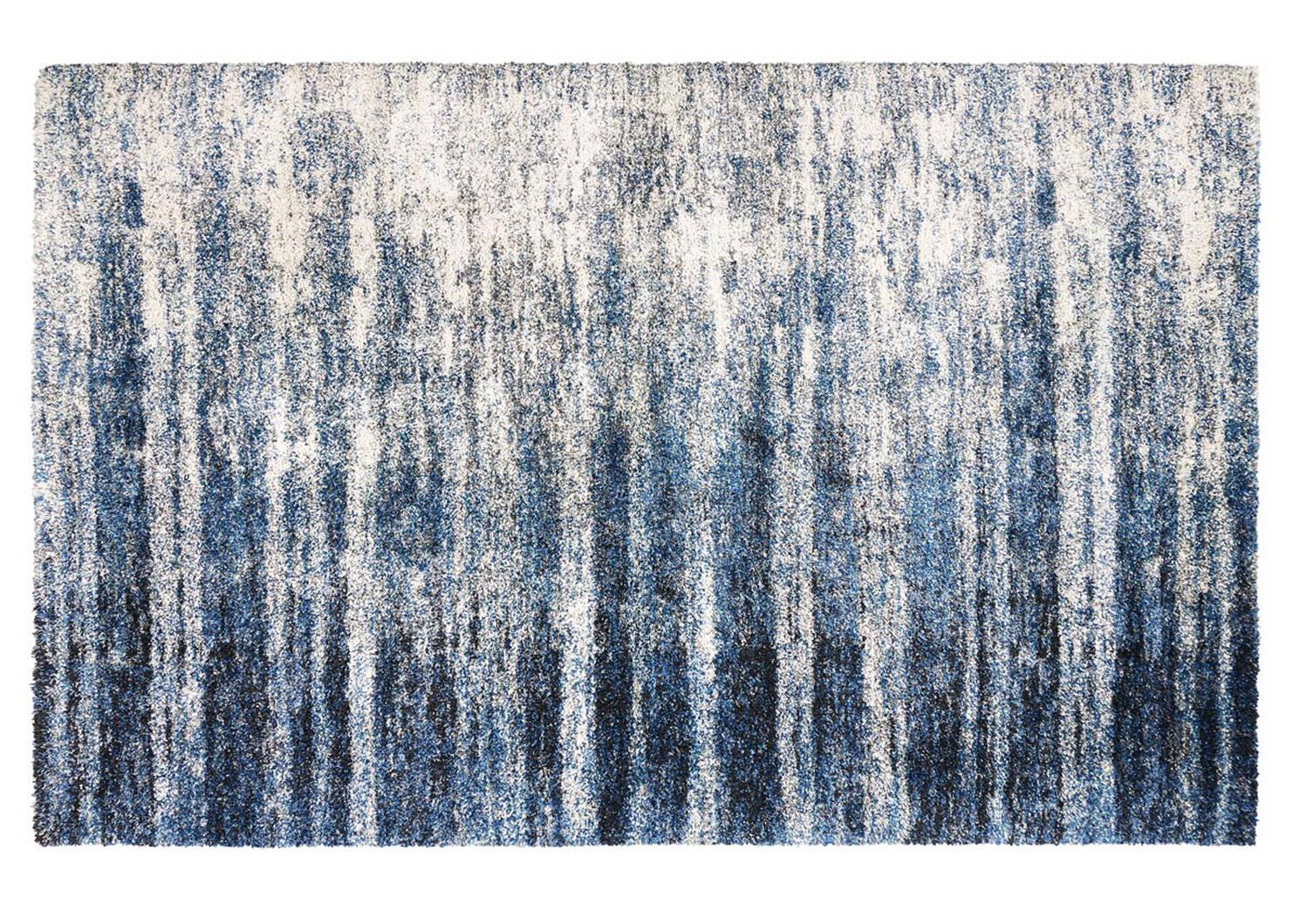 Tapis Levine 94x133 bleu