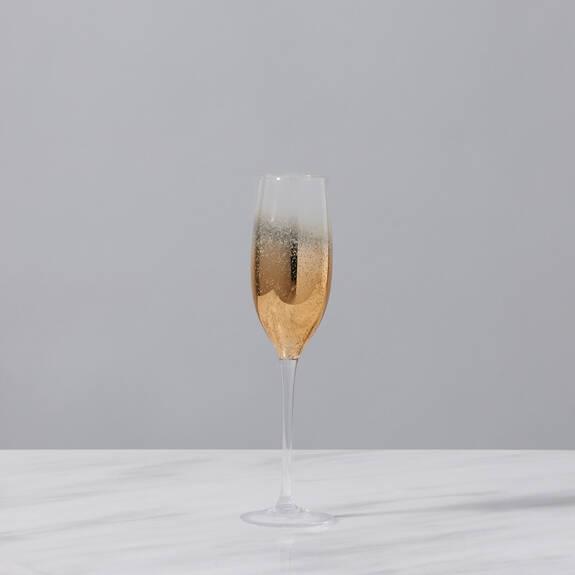 Flûte à champagne Shimmer dorée
