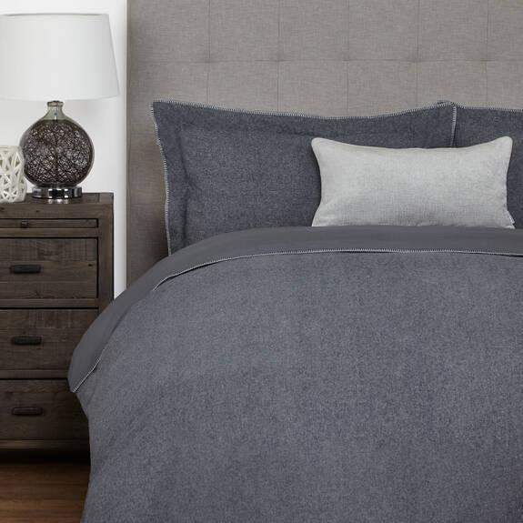 Palmas Duvet Set - Grey