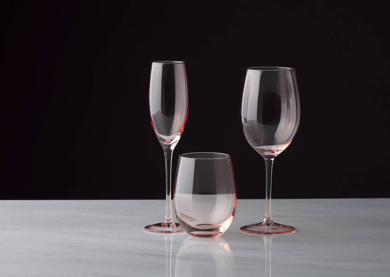 Georgette Wine Glass Pink
