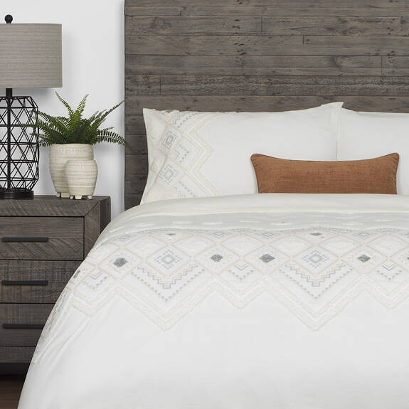 Codie Duvet Set Queen White