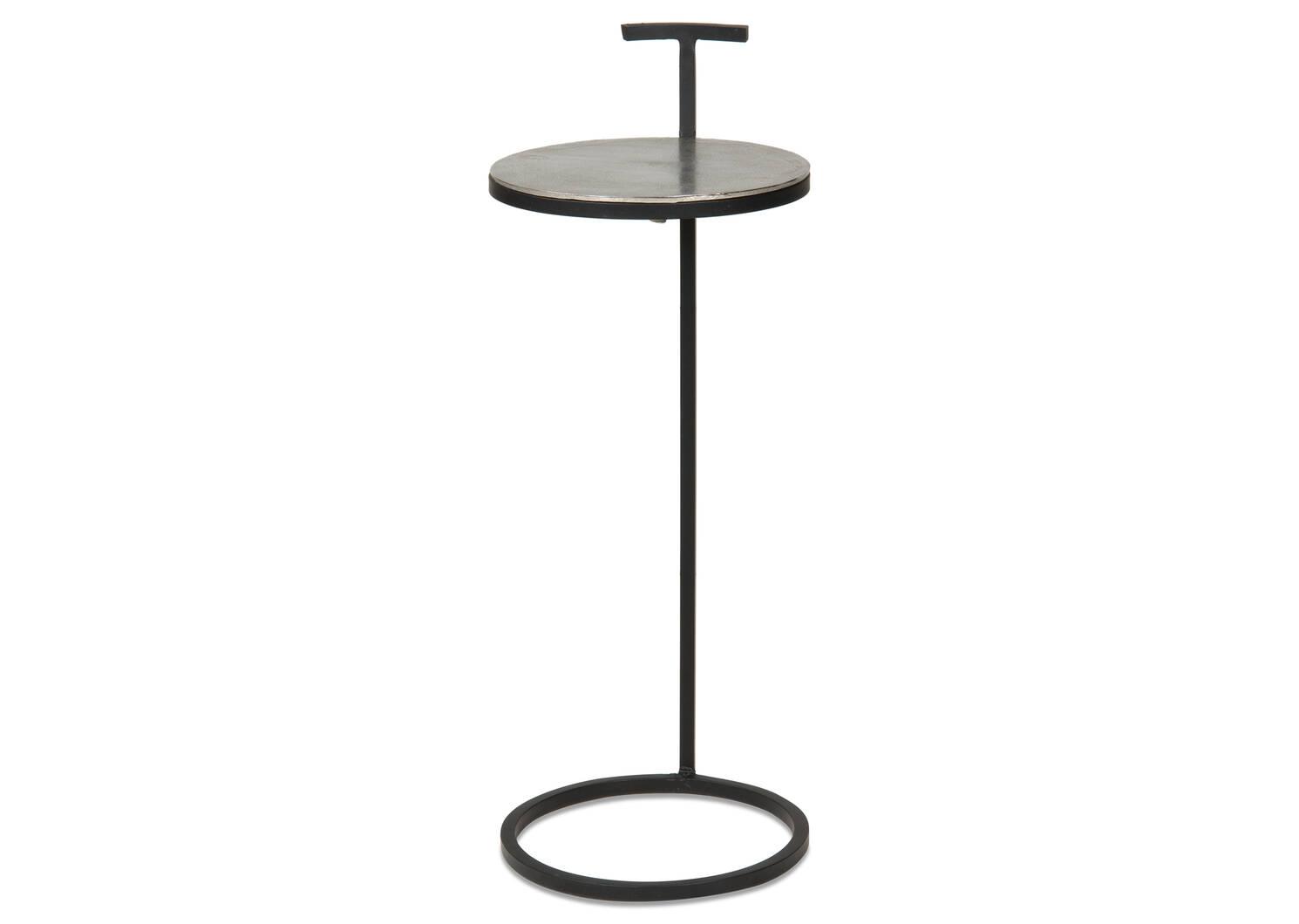 Table d'appoint Torres -nickel brut