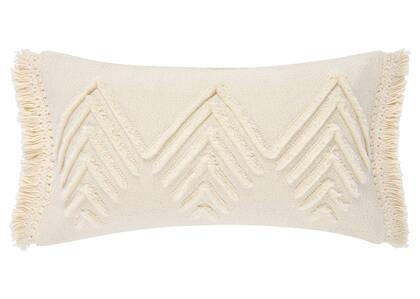 Saratoga Fringe Toss 12x22 Ivory