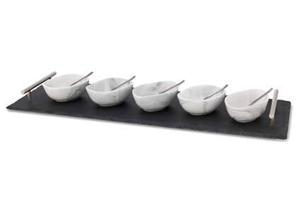 Carrara 11pc Tapas Set w/Tray Nickel
