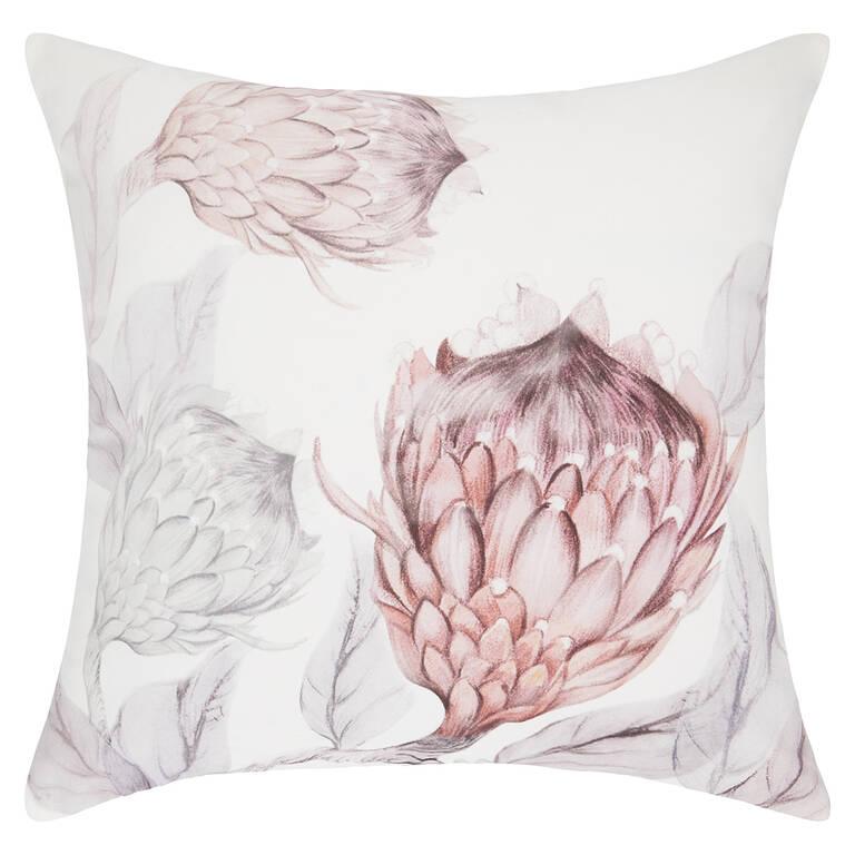 Beatriz Toss 20x20 White/Ballet Pink