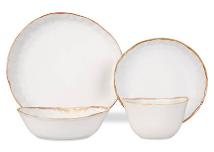 Crofton 16pc Dish Set Antique White