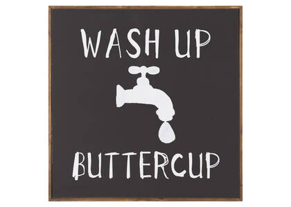 Wash Up Wall Plaque