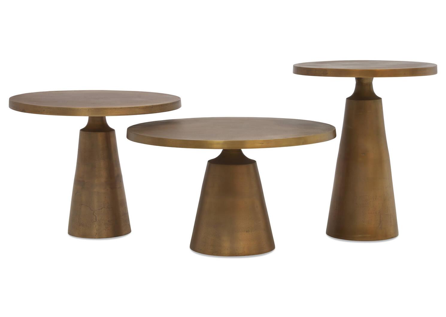 """Gershwin Side Table 20"""" -Brass"""