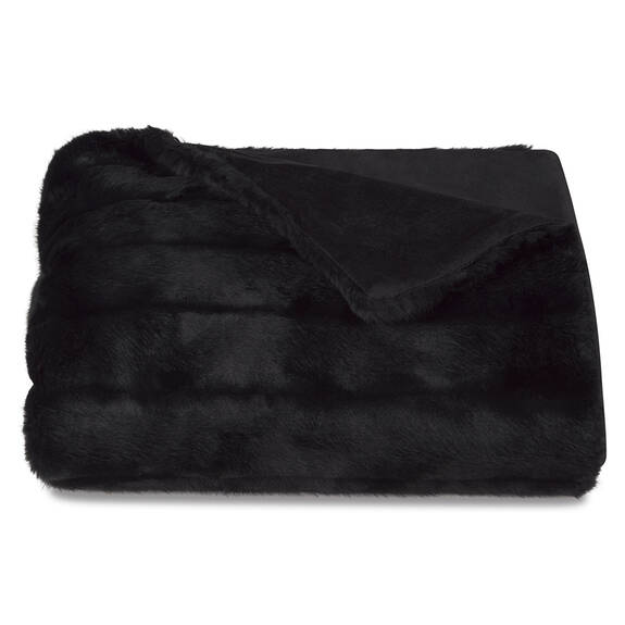 Starlet Faux Fur Throw Black