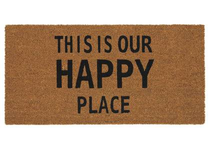 Paillasson Happy Place naturel