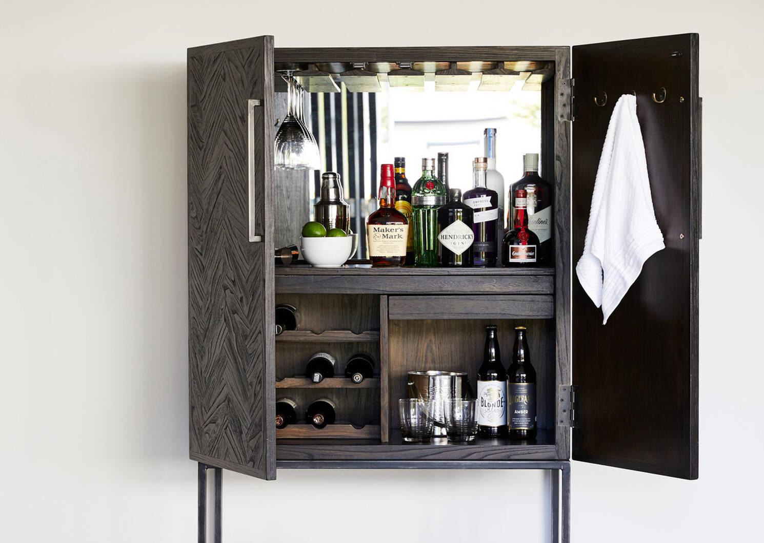 Easton Wine Cabinet -Piper Elm