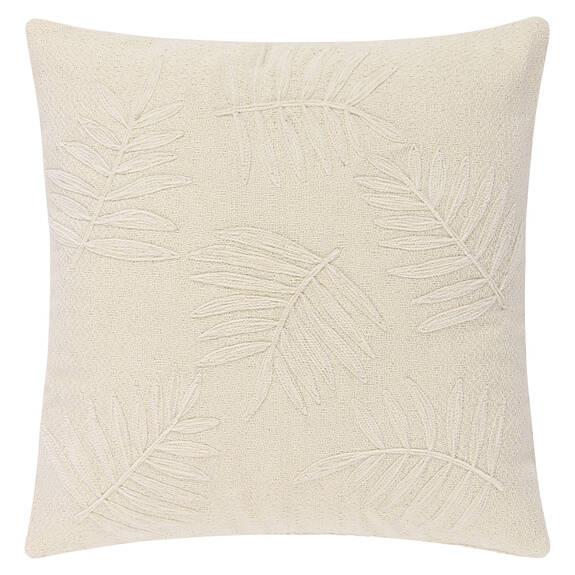 Coussin palm. Paulo 20x20 ivoire/naturel
