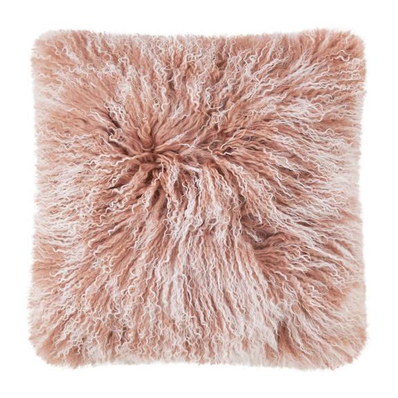 Mongolian Snowy Toss 20x20 Ballet Pink