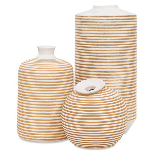 Vases Maddy –savane/blancs