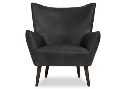Diablo Leather Armchair -Harrod Coal
