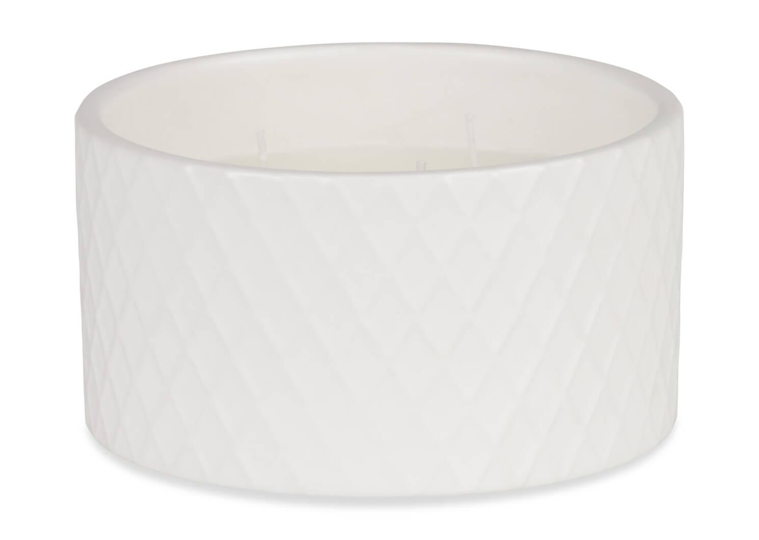 Bougie vanillée Marnie blanche