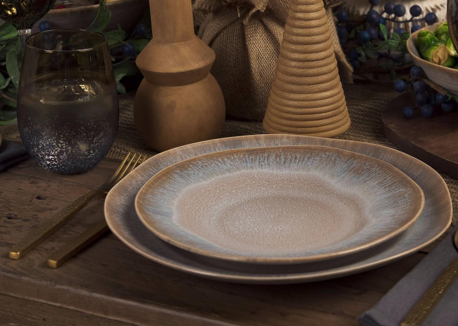 Hornby 16 pc Dish Set Clay/Grey