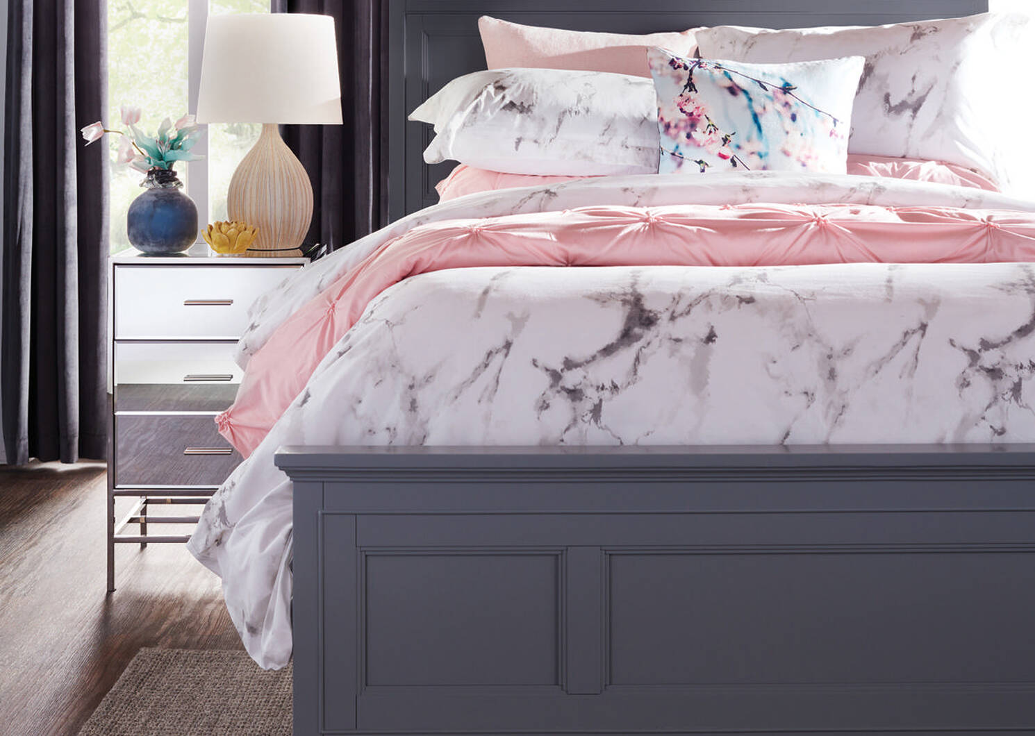 Carrara Duvet Set Queen White/Grey